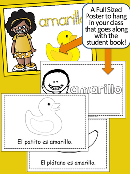 SPANISH Colors {AMARILLO} Emergent Reader & Class Poster