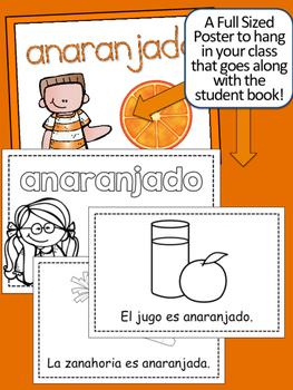 SPANISH Colors {ANARANJADO} Emergent Reader & Class Poster