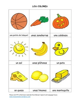 SPANISH Colors GAME