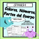 SPANISH - Colors, Numbers, Body Parts / COLORES, NUMEROS,