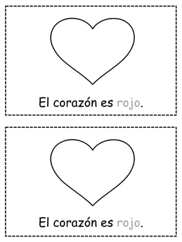 SPANISH Colors {ROJO} Emergent Reader & Class Poster