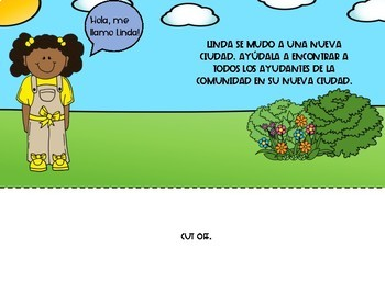 SPANISH Community Helpers Interactive Book, Game Boards, & Puzzle Cards