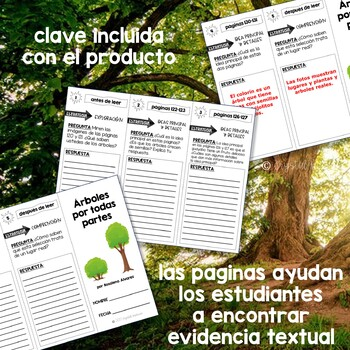 SPANISH Comprehension Trifold for use with Arboles por Todas Partes
