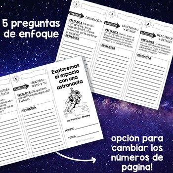 SPANISH Comprehension Trifold - Exploremos el Espacio con una Astronauta