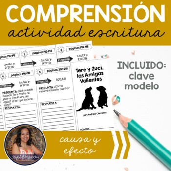 SPANISH Comprehension Trifold for use with Tere y Zuci