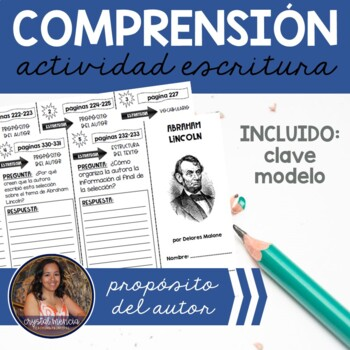 SPANISH Comprehension Trifold - Abraham Lincoln