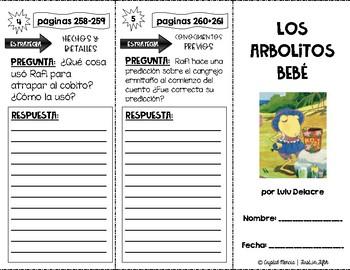 SPANISH Comprehension Trifold - Los Arbolitos Bebé