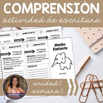 SPANISH Comprehension Trifold for use with Medio Elefante