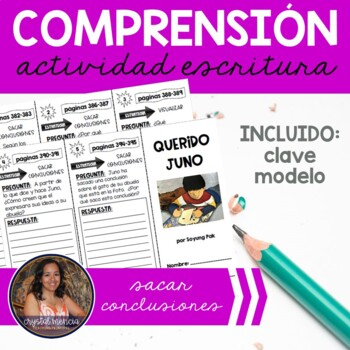 SPANISH Comprehension Trifold for use with Querido Juno
