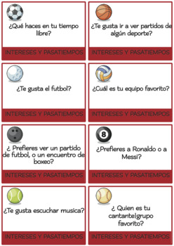 SPANISH Conversation Cards INTERMEDIATE BUNDLE