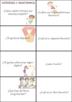 SPANISH Conversation Cards LEVEL: Intermediate VOL.1