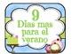 SPANISH Countdown for Summer/ Cuenta regresiva para el verano