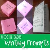 SPANISH Producción escrita Creative writing prompts {Roll a prompt dice game}