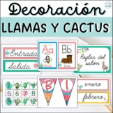 SPANISH DECORATION LLAMAS THEME BUNDLE - EDITABLE