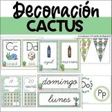 SPANISH DECORATION WATERCOLOR CACTUS THEME BUNDLE - EDITABLE