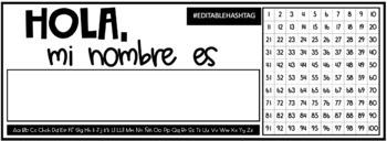SPANISH Desk Name Tags! 8 Options!