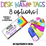 SPANISH Desk Name Tags! 8 Options!