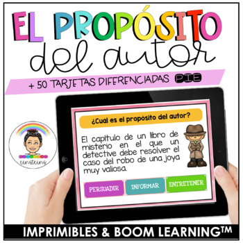 SPANISH Differentiated Author's Purpose Task Cards
