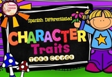 SPANISH Differentiated Character Traits  **48 TASK CARDS**