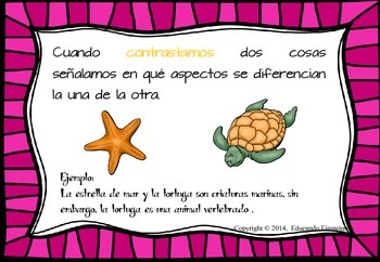 SPANISH Differentiated Compare and Contrast (Compara y contrasta ) Task Cards