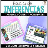 Making inferences in Spanish Task Cards BUNDLE  (La Inferencia)
