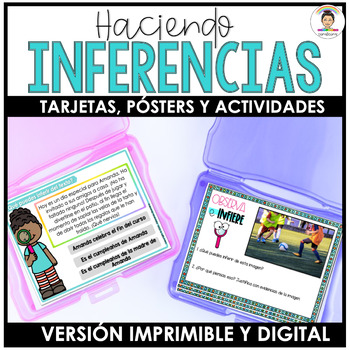 SPANISH Differentiated INFERENCE Task Cards (La inferencia