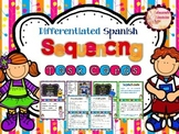 SPANISH Differentiated Sequencing Task Cards (La secuencia