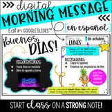 SPANISH Digital Morning Message (for Google Slides™)