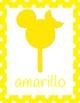 Disney Colors Posters: SPANISH Mickey Chocolate Bars