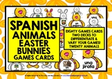 ELEMENTARY SPANISH EASTER BUNNY ANIMALS GAME CARDS