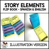 Spanish & English Bundle Story Elements Flip Book Illustration Version