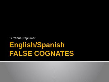 SPANISH ENGLISH FALSE COGNATES