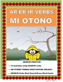 SPANISH FALL- Verbs Power Point/Poster Project with Rubric- El Otoño
