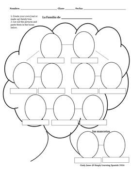 SPANISH FAMILY UNIT *Family Tree Included!