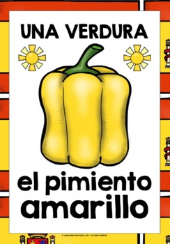 SPANISH FRUITS & VEGETABLES 55 FLASHCARDS / POSTERS