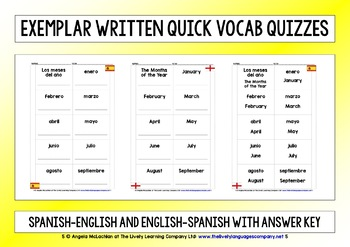 SPANISH 4 VOCAB QUIZZES (2)