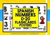 SPANISH NUMBERS 1-20 FLASHCARDS / POSTERS