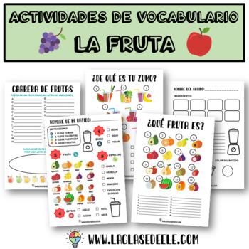 JUEGOS Y ACTIVIDADES CON VOCABULARIO DE LAS FRUTAS + RECETA BATIDO