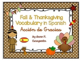 SPANISH Fall & Thanksgiving Vocabulary and super fun TABOO Game!