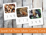 SPANISH Fall Theme Syllable Counting Cards