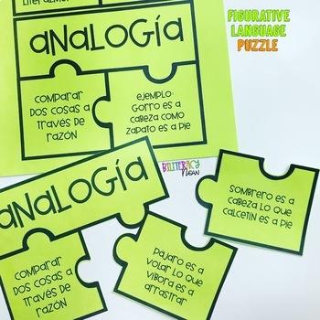 SPANISH Figurative Language Vocabulary Puzzle!