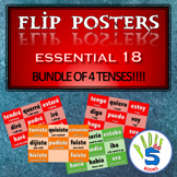 SPANISH Flip Poster BUNDLE!- (ALL 4 present, preterite, imperfect, future tenses