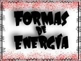 SPANISH Forms of Energy / Formas de Energía Luz, Calor y Sonido