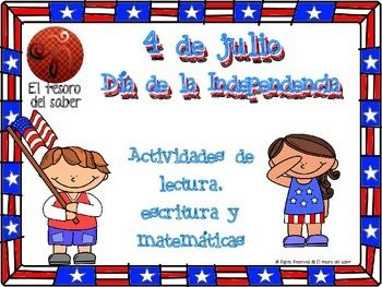 SPANISH Fourth of July Packet - Reading, Writing, Math and