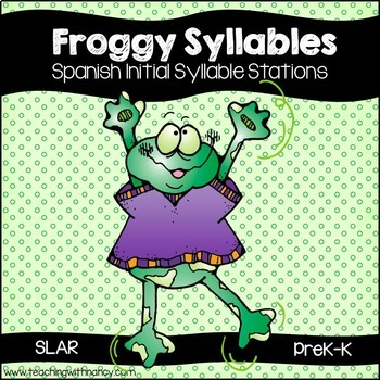 SPANISH: Froggy Initial Syllable Clip Cards