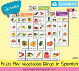 SPANISH Fruits and Vegetables Bingo / Loteria Frutas y Ver