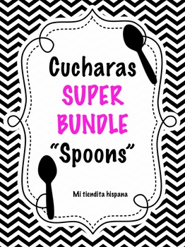 "SPANISH GRAMMAR AND VOCABULARY CUCHARAS ""SPOONS""  BUNDLE"