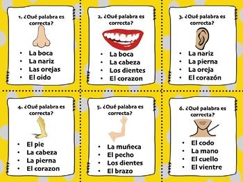 SPANISH GRAMMAR AND VOCABULARY TASK CARDS BUNDLE