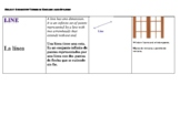 SPANISH  Geometry  (vocabulary) Flash Cards: Points, Lines, Planes