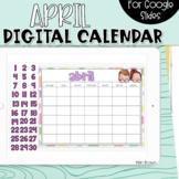 SPANISH - Google Slides Calendar | April